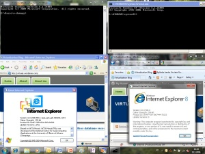 Internet Explorer 6 and 8 on Windows 7