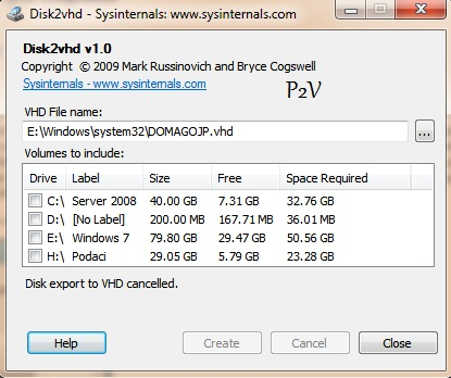 Free P2V physical to virtual (Disk to vhd) tool